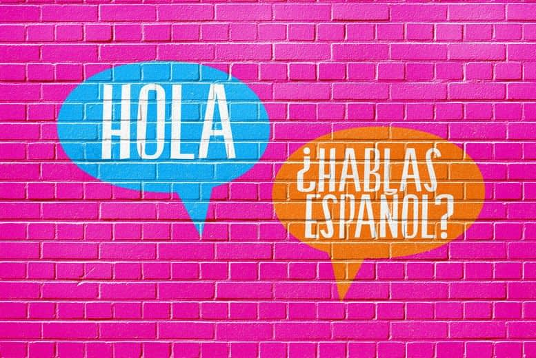 Spanish words on the wall