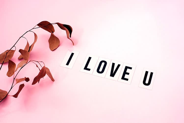 I love you words text